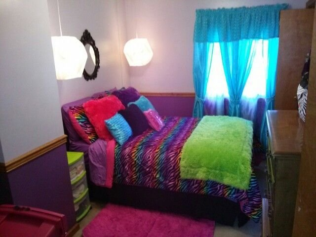 Best Rainbow Zebra Bedroom Big Girls Room Pinterest With Pictures