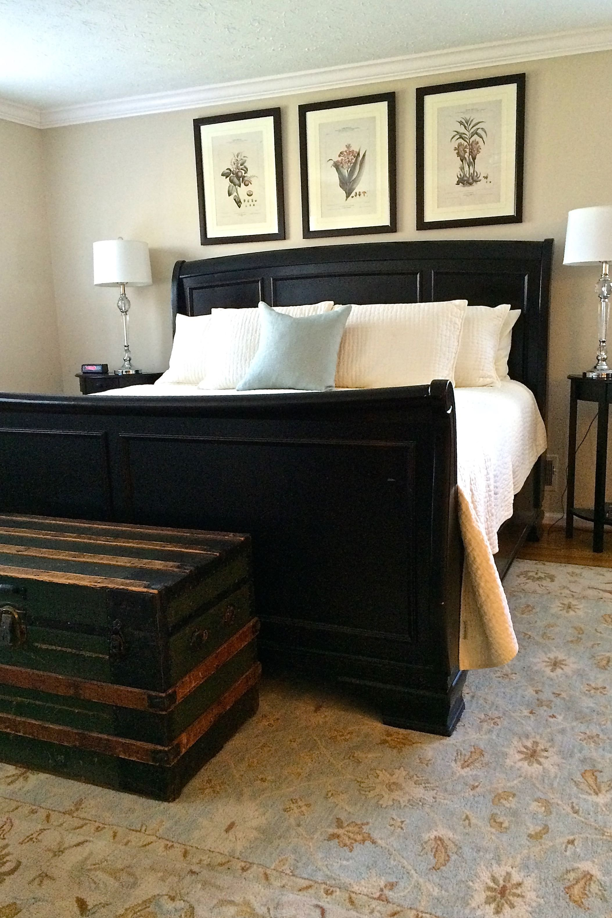 Best Master Bedroom With A Jet Black Sleigh Bed From Pottery With Pictures