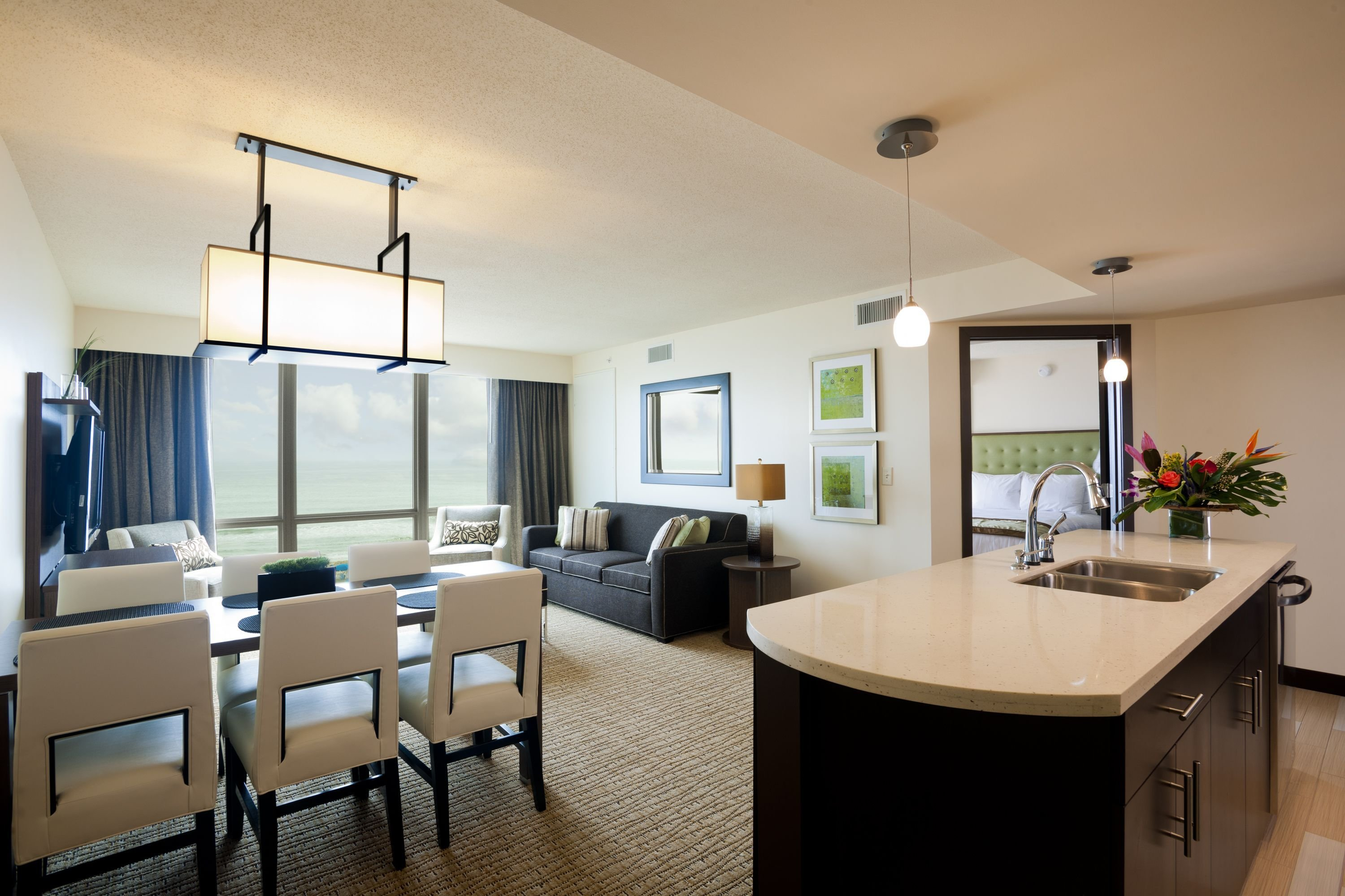Best Living Room Of An Oceanfront 2 Bedroom Suite At Oceanaire With Pictures