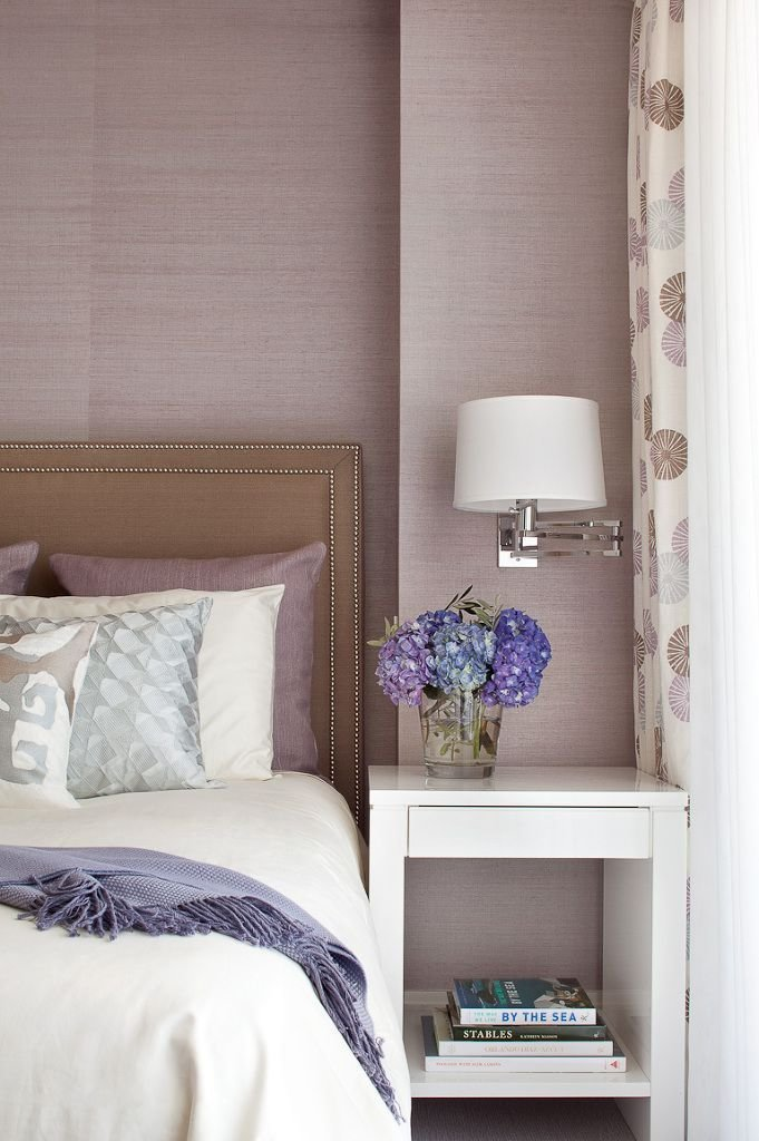 Best Gray And Taupe With Orchid Lavender Grasscloth Wallpaper With Pictures
