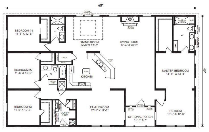 Best 4 Bedroom 3 Bath Ranch Plan Google Image Result For Http With Pictures