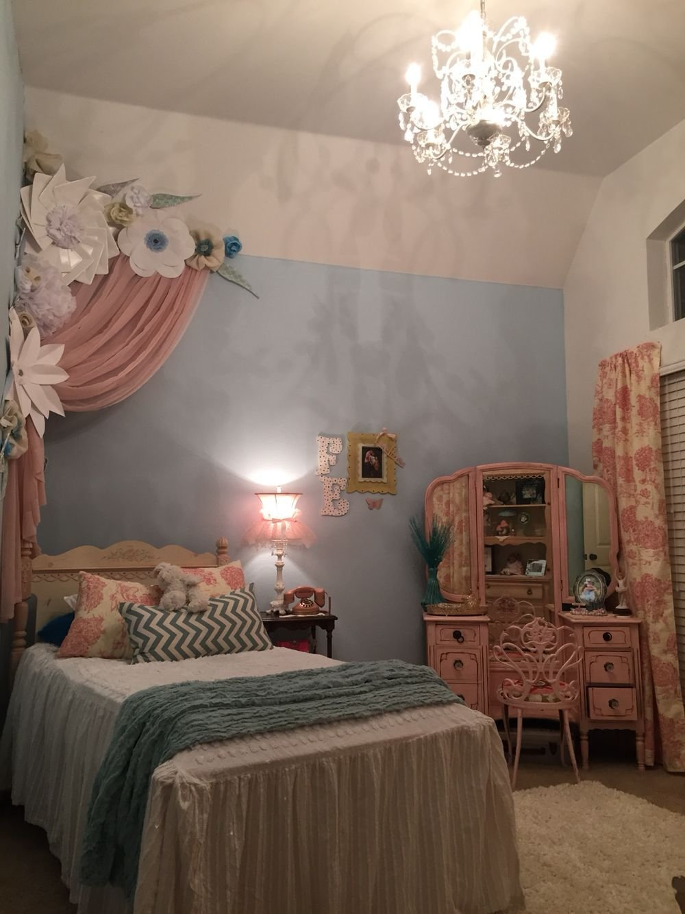 Best Paper Flowers Princess Room Pink And Blue Room Ideas 6 With Pictures