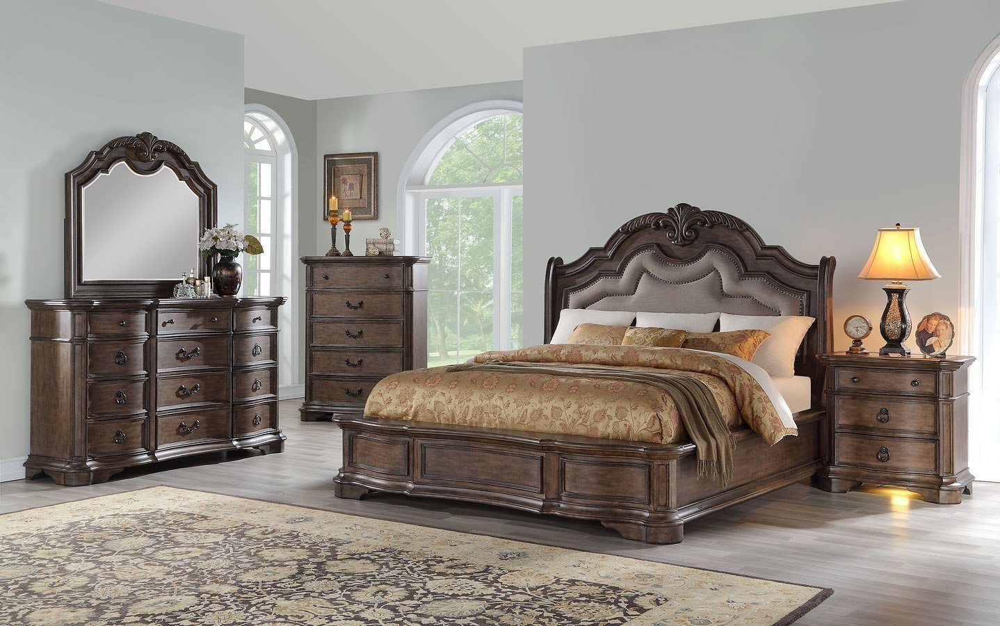 Best Tulsa Upholstered Bedroom Set By Avalon Furniture With Pictures