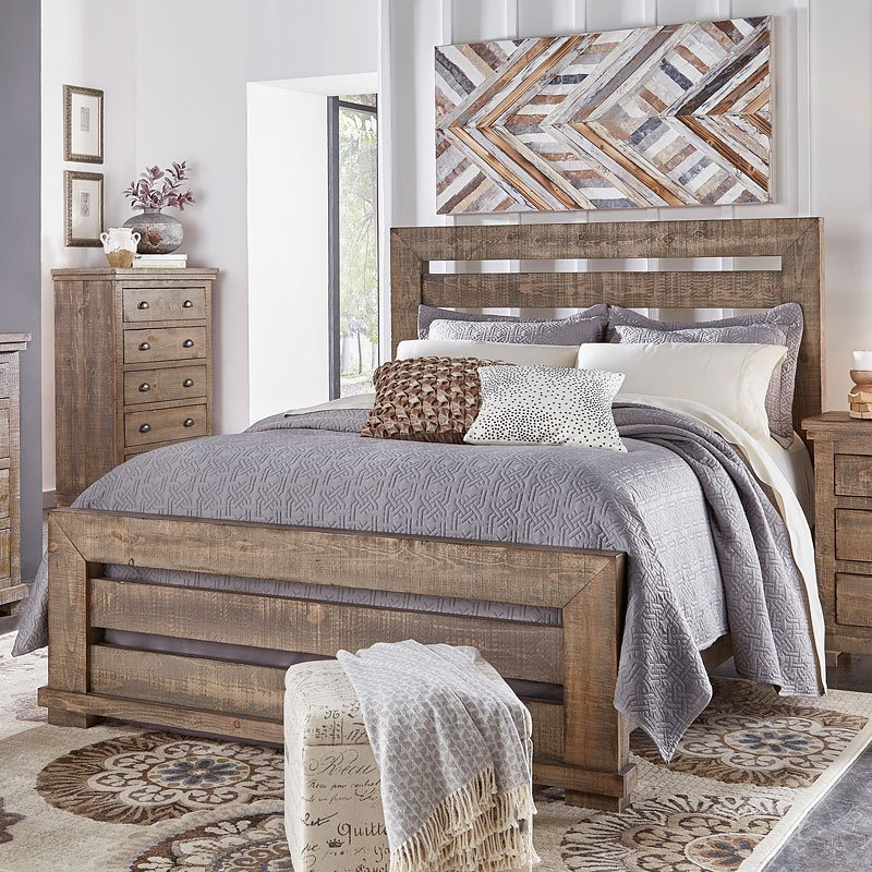 Best Willow Slat Bedroom Set Weathered Grey By Progressive Furniture 1 Review S Furniturepick With Pictures