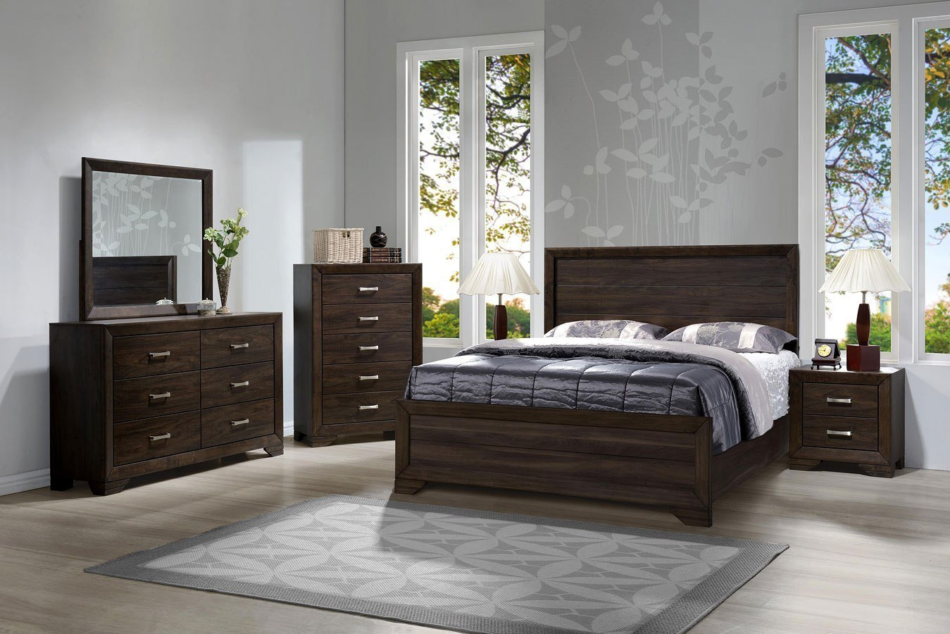 Best Asheville Panel Bedroom Set Brown Mango Bernards With Pictures