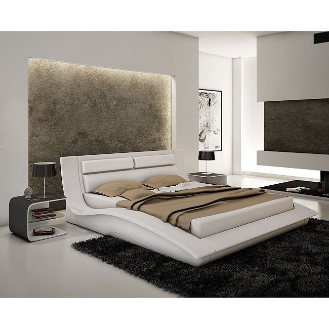Best Wave Platform Bedroom Set White Jm Furniture Furniture With Pictures