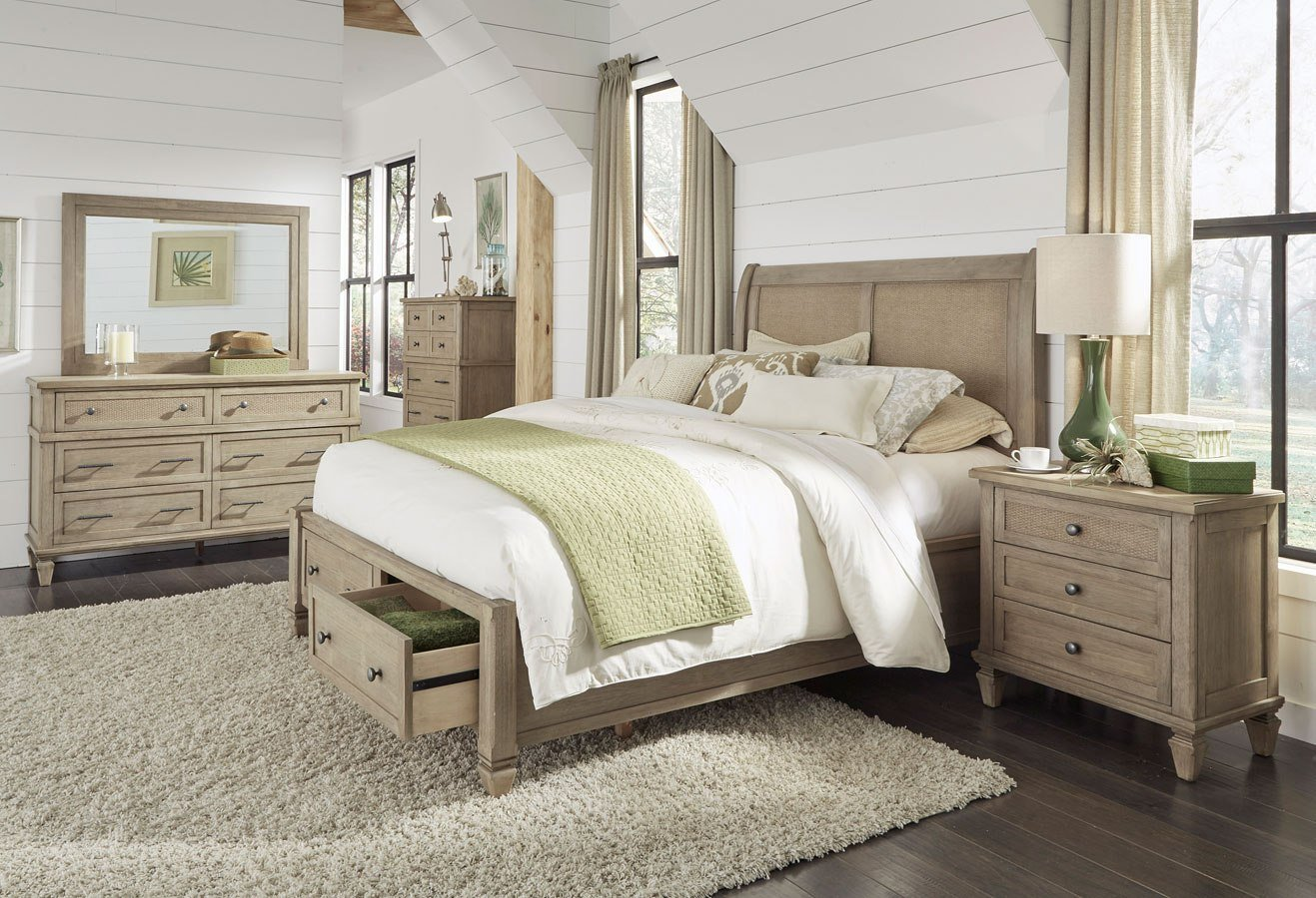 Best Coronado Storage Bedroom Set Flax Progressive Furniture With Pictures