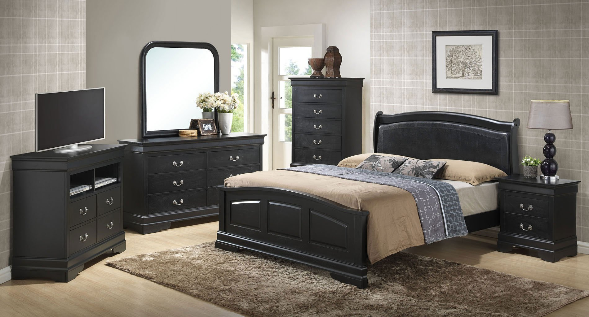 Best G3150 Upholstered Headboard Bedroom Set Glory Furniture With Pictures