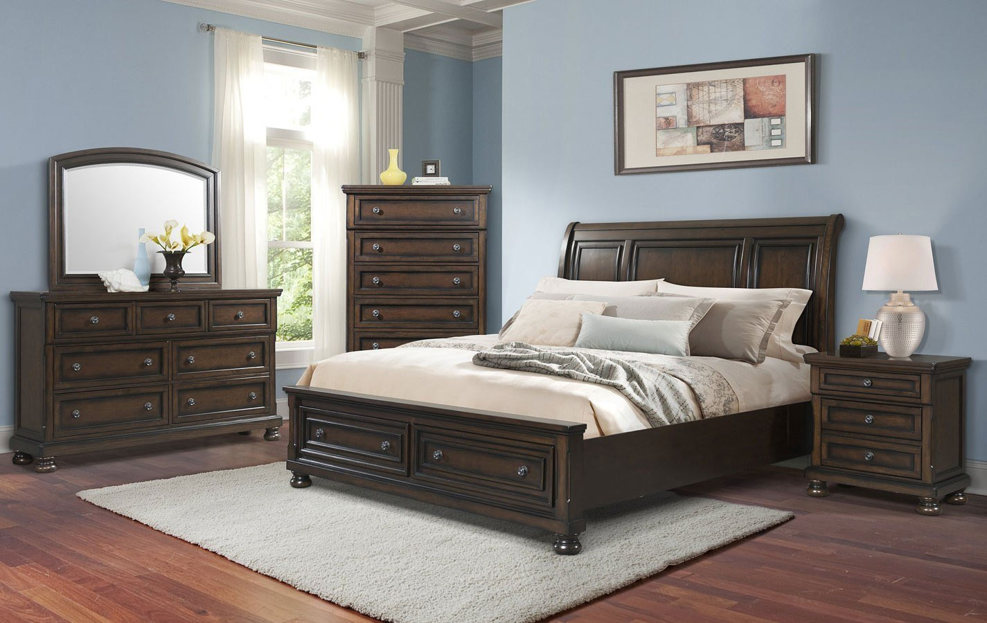 Best Kingston Storage Bedroom Set Elements Furniture With Pictures