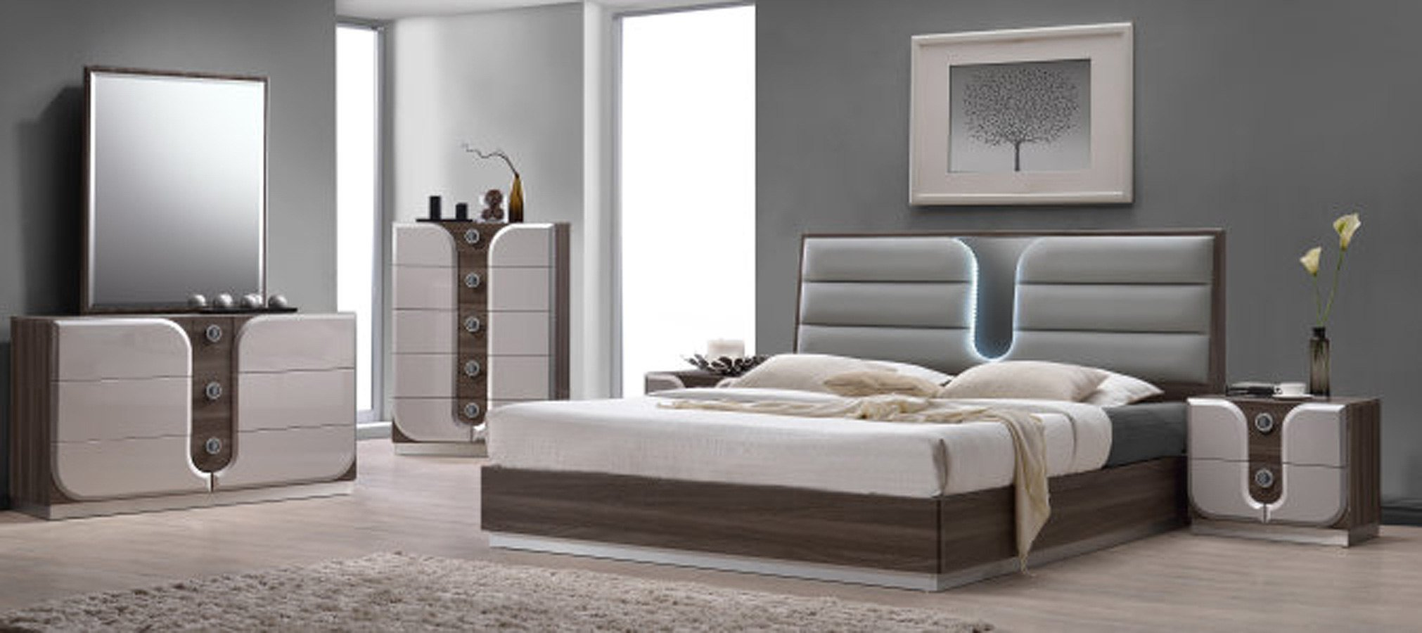 Best London Platform Bedroom Set Chintaly Imports Furniture Cart With Pictures