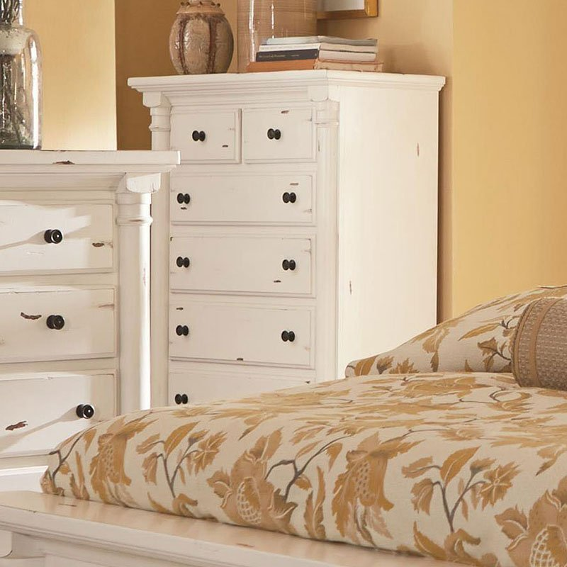 Best Gramercy Park Panel Bedroom Set Aged White Progressive With Pictures