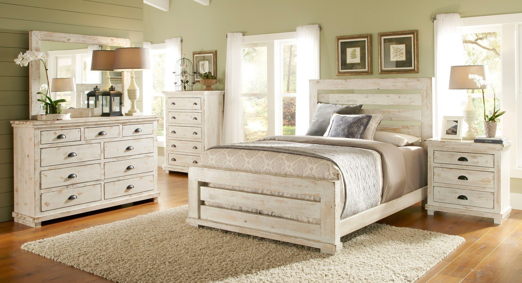 Best Willow Slat Bedroom Set Distressed White Progressive Furniture 9 Reviews Furniture Cart With Pictures