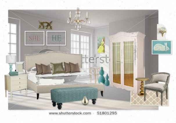 Best Romantic Teal White And Gold Bedroom By Colettefb Olioboard With Pictures