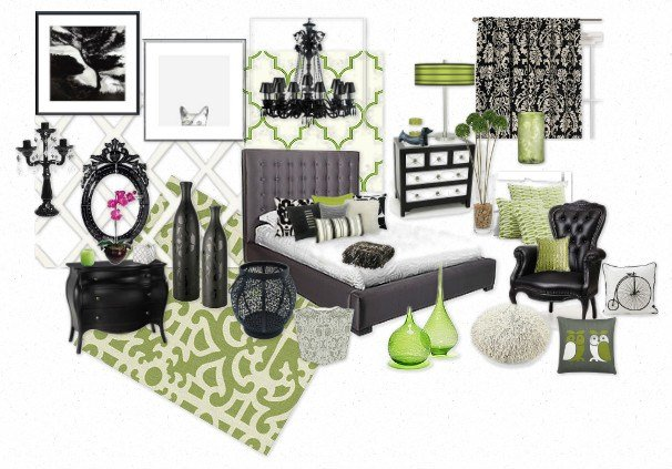Best Black White Grey And Green Bedroom By Mgn0511 Olioboard With Pictures