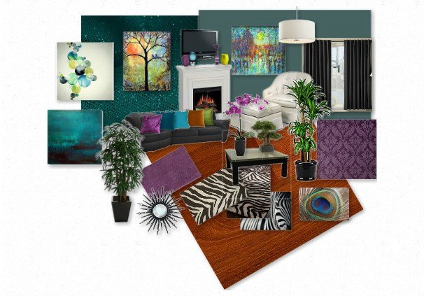 Best My Peacock Inspired Livingroom By Meowrissa Olioboard With Pictures