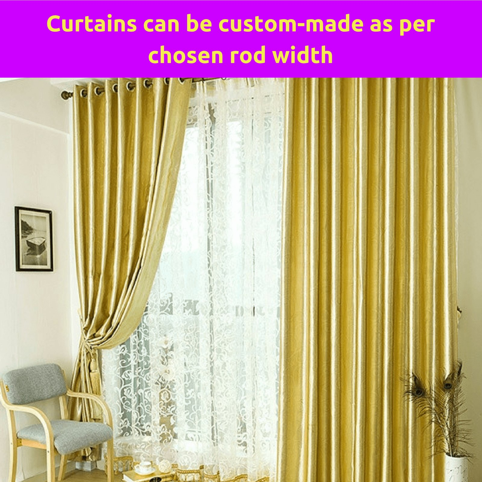 Best Blackout Gold Fabric Bedroom Door Net Curtain Design Drape With Pictures
