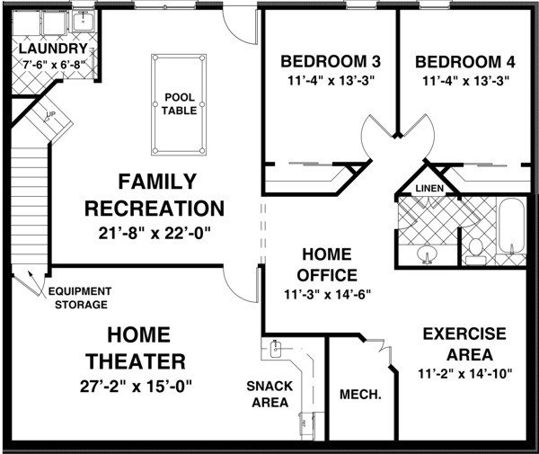 Best The Creekstone 1123 2 Bedrooms And 2 Baths The House Designers With Pictures