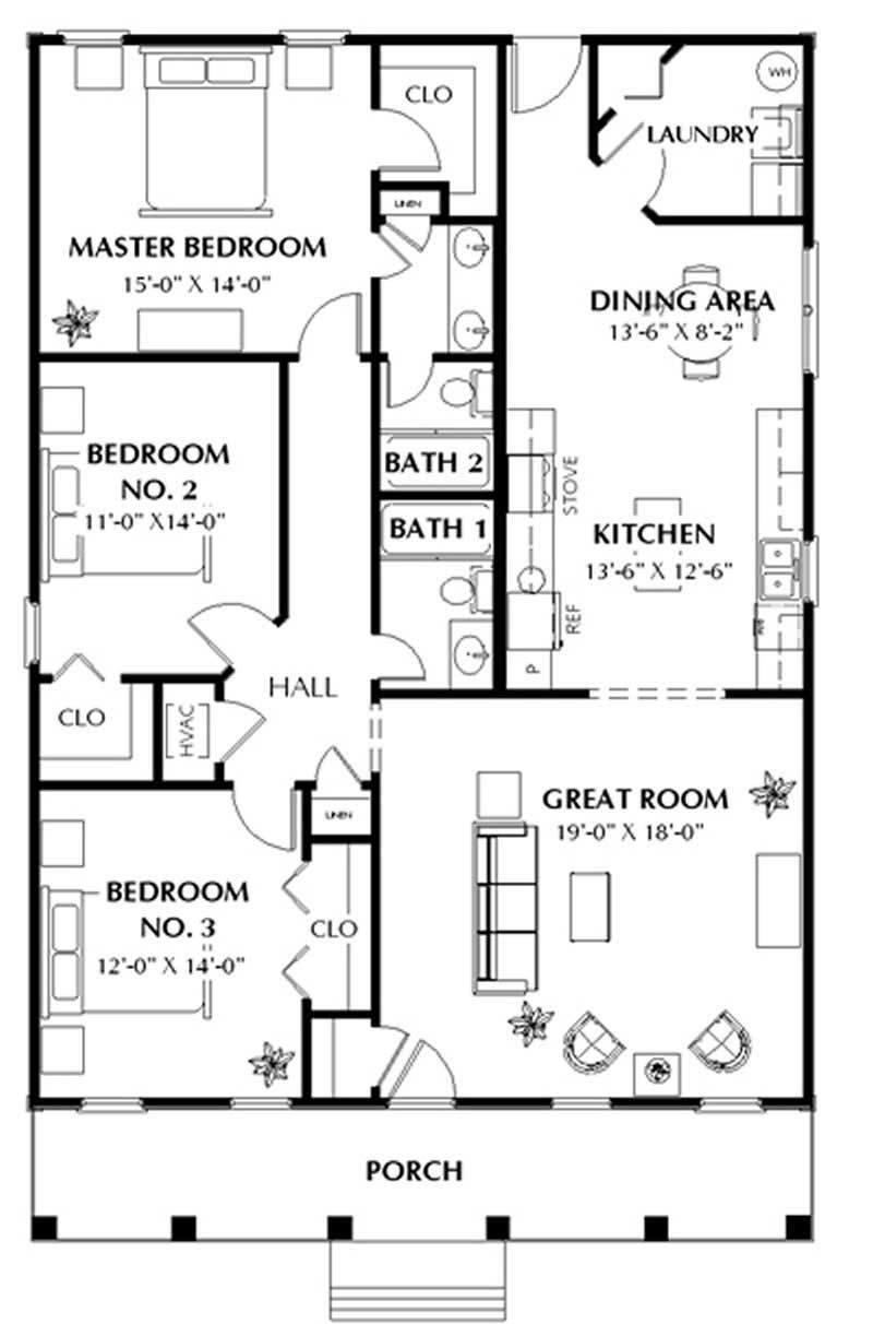 Best 3 Bedrm 1587 Sq Ft Southern House Plan 123 1020 With Pictures
