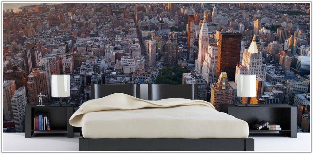 Best New York Skyline Bedroom Wallpaper Bedroom Home With Pictures