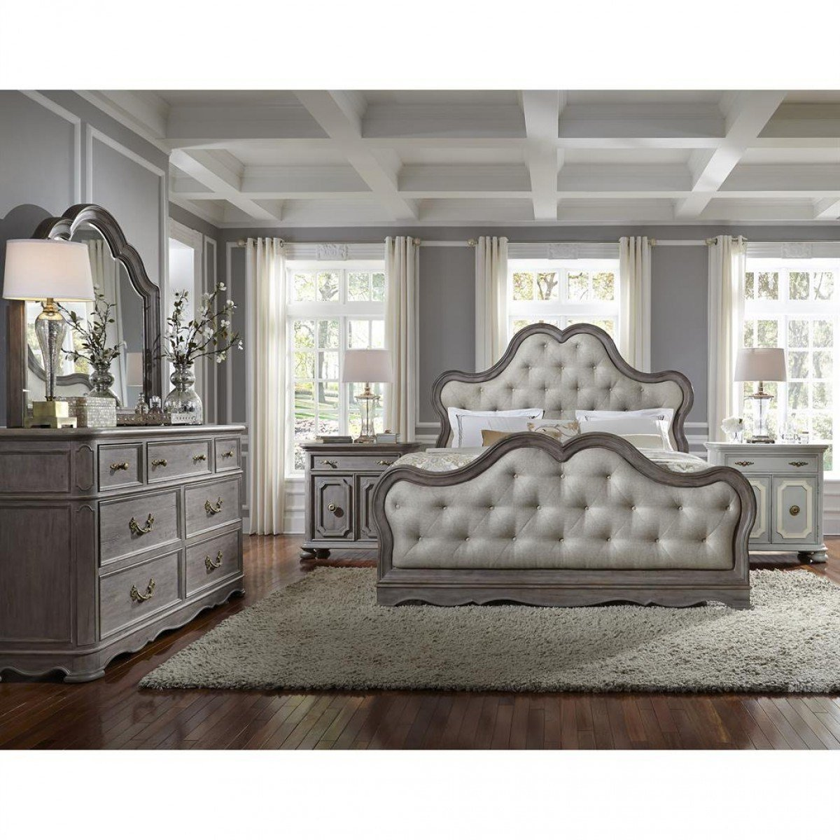 Best Pulaski Furniture Simply Charming Upholstered Bedroom Set With Pictures