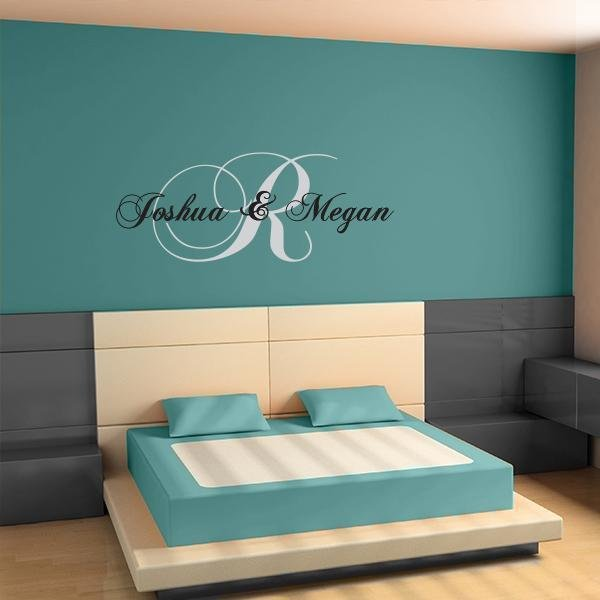 Best Initial Wall Decal Couples Wall Decal Wall Name Stickers With Pictures