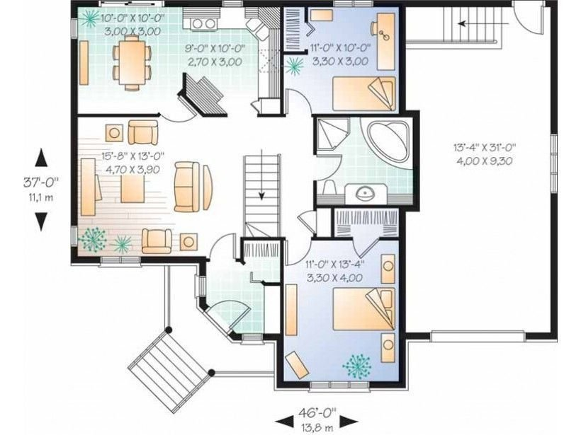 Best 2 Bedroom Retirement House Plans Luxury Affinity At With Pictures