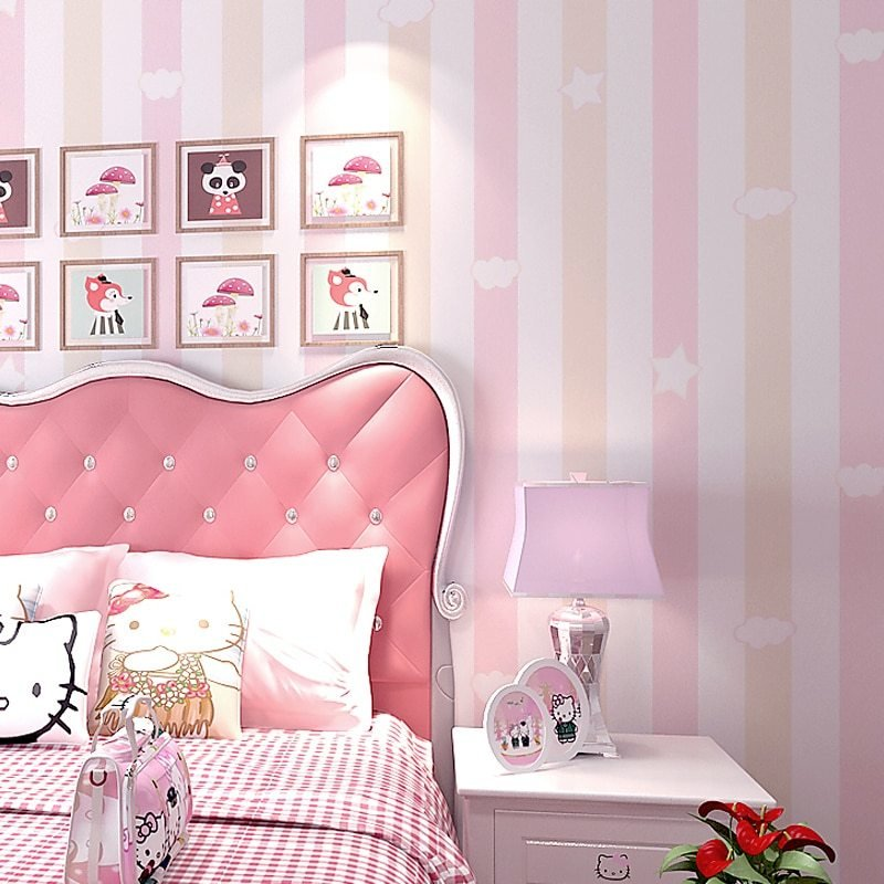 Best Striped Girly Bedroom Wallpaper – Chadstore Co Uk With Pictures