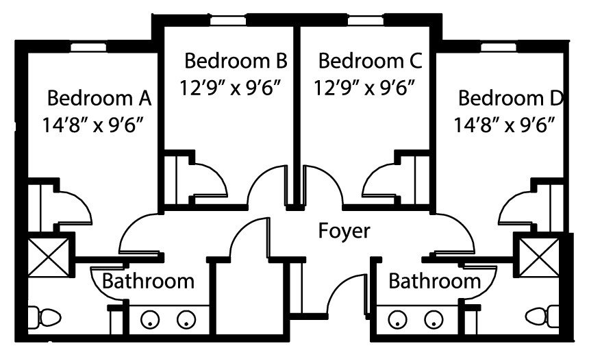 Best Drury University Bedroom Dimensions And Floor Plans With Pictures