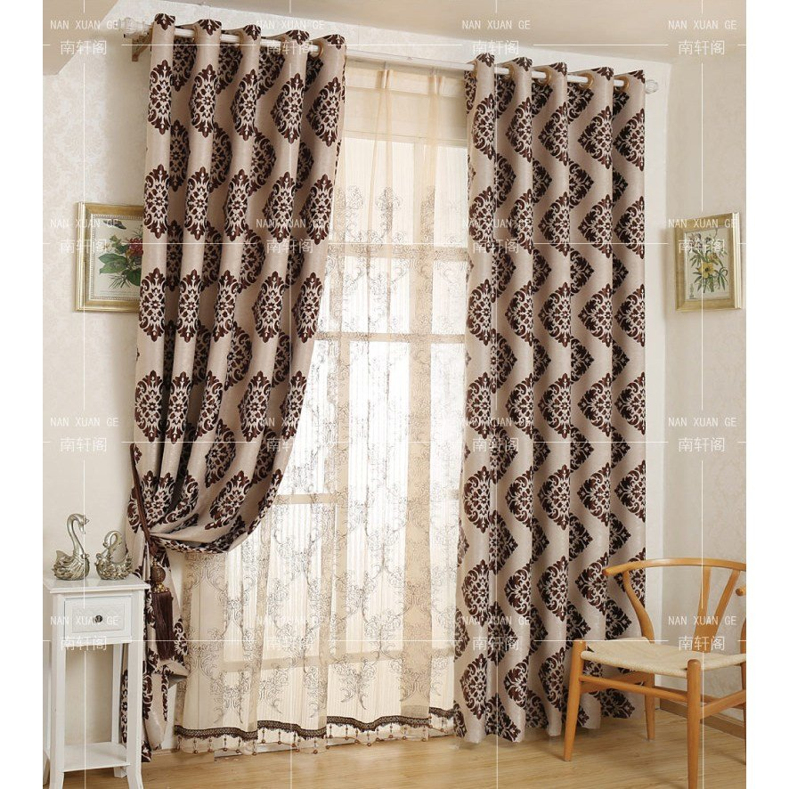 Best Coffee Damask Jacquard Polyester Insulted Custom Bedroom With Pictures