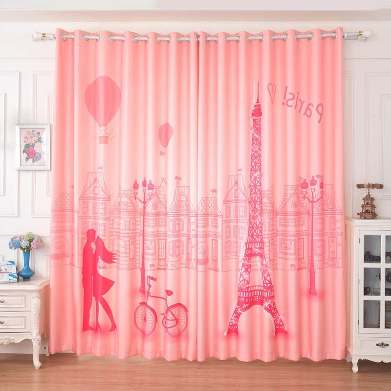 Best Pink Dreamy Paris Curtains For Girls Bedroom With Pictures