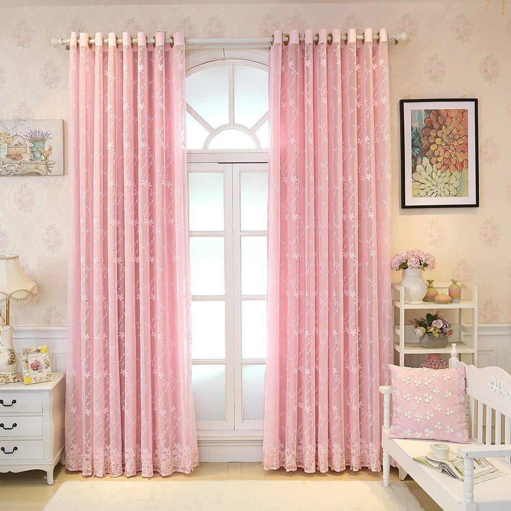 Best Princess Baby Light Pink Curtains Blackout Drapes Sheer With Pictures