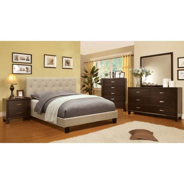 Best Leeroy 5Pc Eastern King Bedroom Set Ivory With Pictures