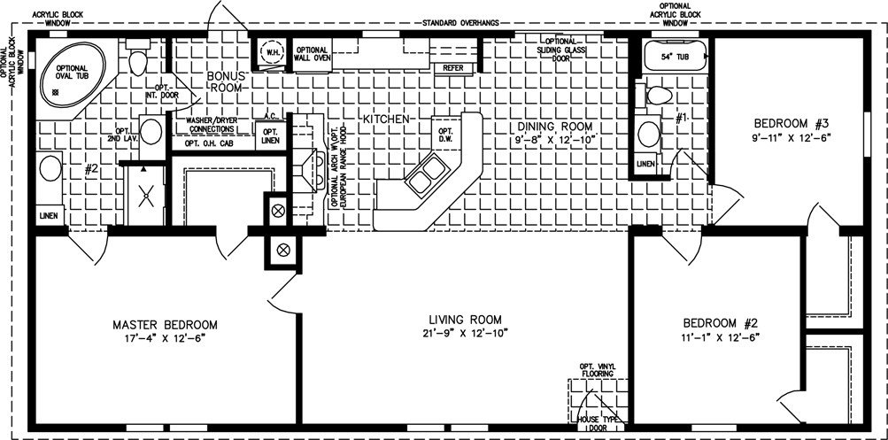 Best Three Bedroom Mobile Homes Floor Plans Jacobsen Homes With Pictures