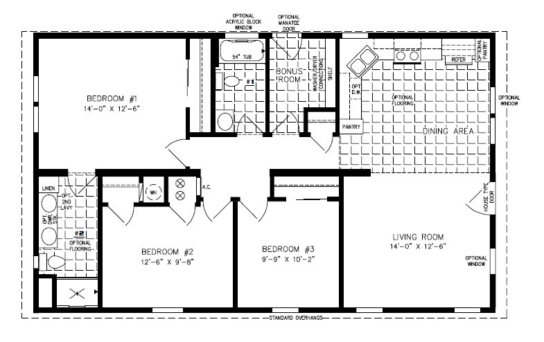 Best 1000 To 1199 Sq Ft Manufactured And Mobile Home Floor With Pictures