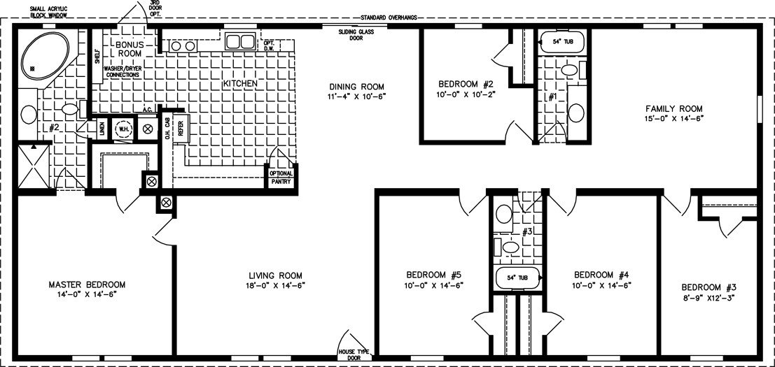 Best Five Bedroom Mobile Home Floor Plans Jacobsen Homes With Pictures