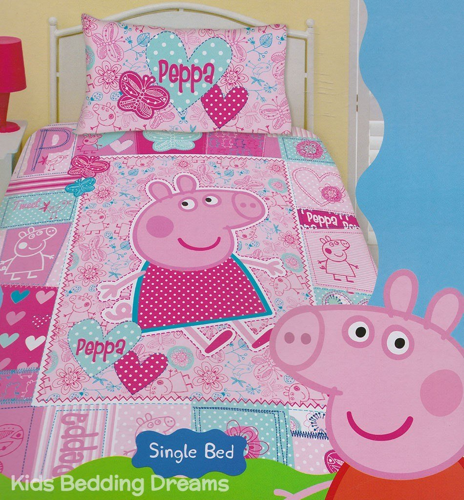 Best Peppa Pig Pink Quilt Cover Set Peppa Pig Bedding Kids With Pictures