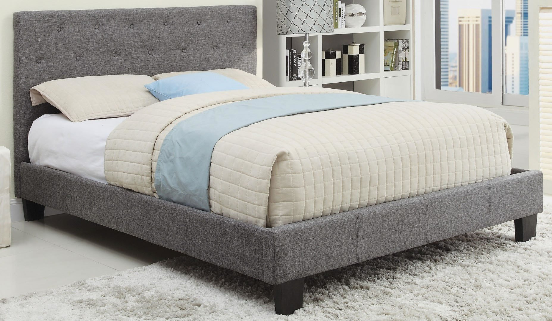 Best Whi Summit Queen Bed Grey 101 469Q Gy Modern With Pictures