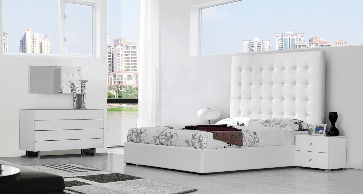 Best Modrest Lyrica Modern White Bedroom Set With Pictures