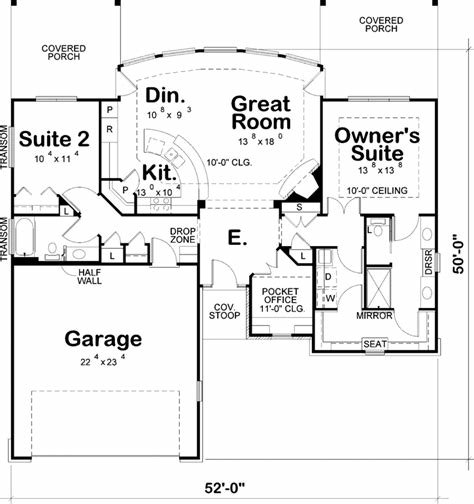 Best Contemporary House Plan 2 Bedrooms 2 Bath 1436 Sq Ft With Pictures