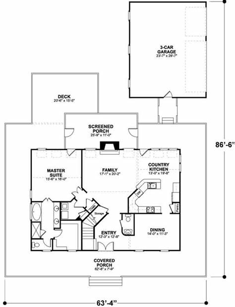 Best Country House Plan 3 Bedrooms 2 Bath 2098 Sq Ft Plan 4 172 With Pictures