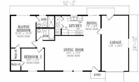 Best Southwestern House Plan 2 Bedrooms 2 Bath 1000 Sq Ft Plan 41 143 With Pictures