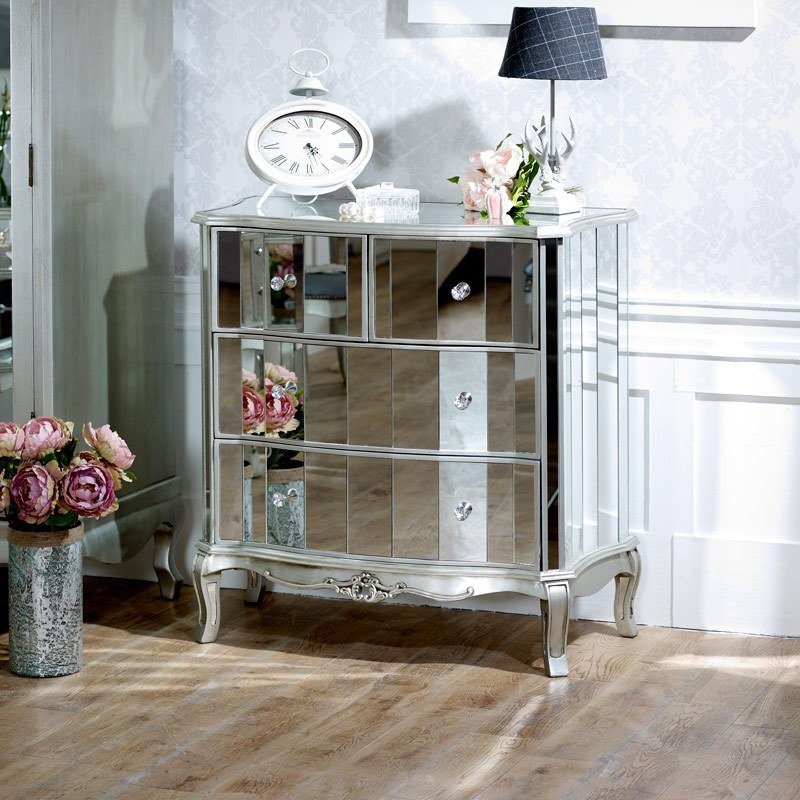 Best Mirrored Chest Of Drawers Tiffany Range Melody Maison® With Pictures