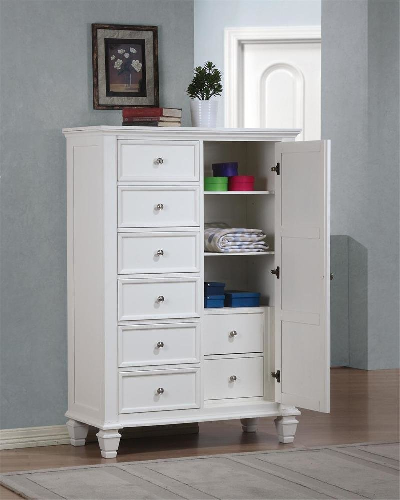 Best Sandy Beach White Storage Bedroom Collection With Pictures