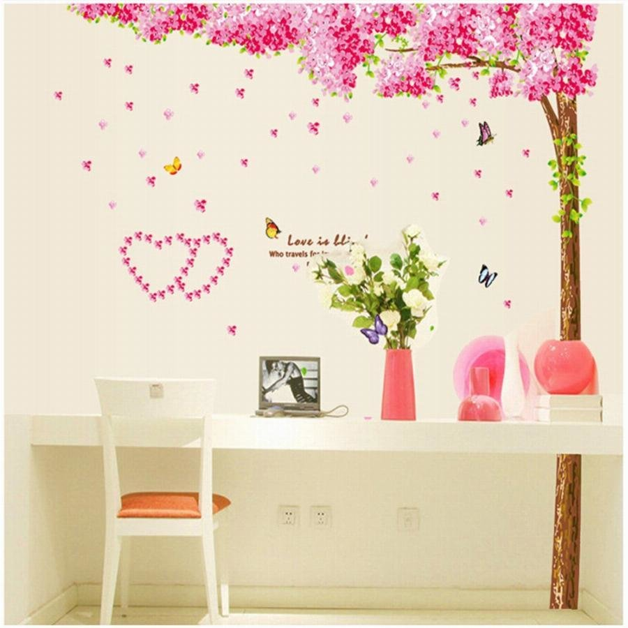 Best Cherry Love Removable Diy Children Vinyl Wall Stickers For Kids Rooms Home Decor Decal Poster With Pictures