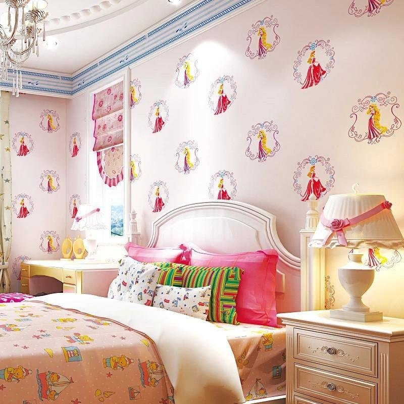 Best Korean Cute Girl Cartoon Princess Children S Room Pink With Pictures