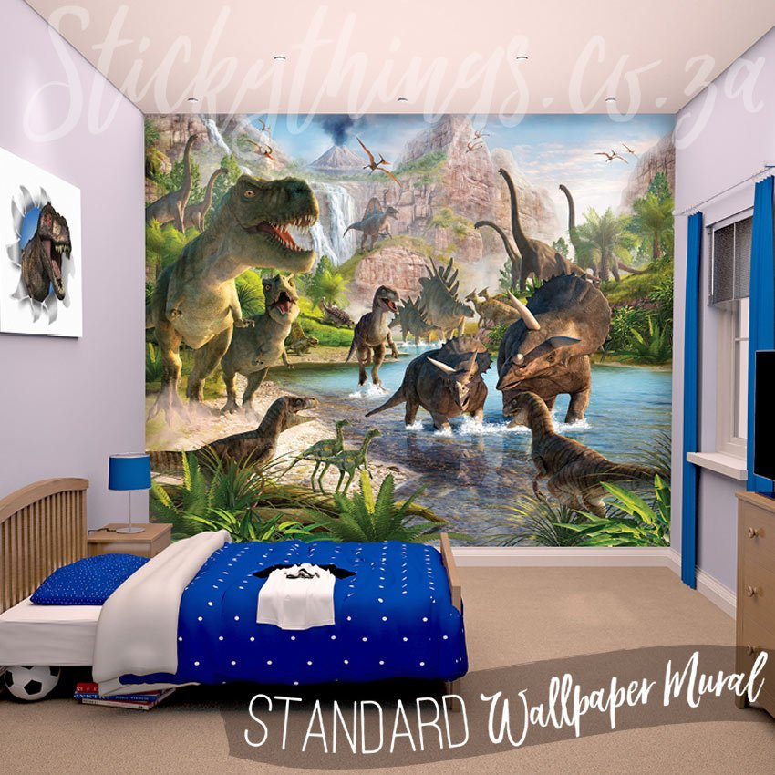 Best Dinosaur Wall Mural Realistic Dinosaur Land Wallpaper With Pictures