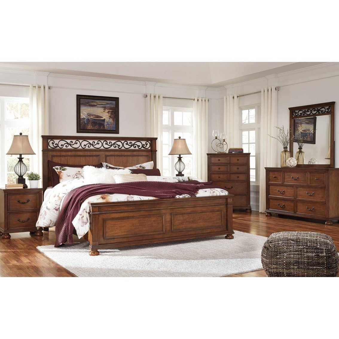Best Ashley Lazzene 5 Pc Bedroom Set Bedroom Sets Home With Pictures