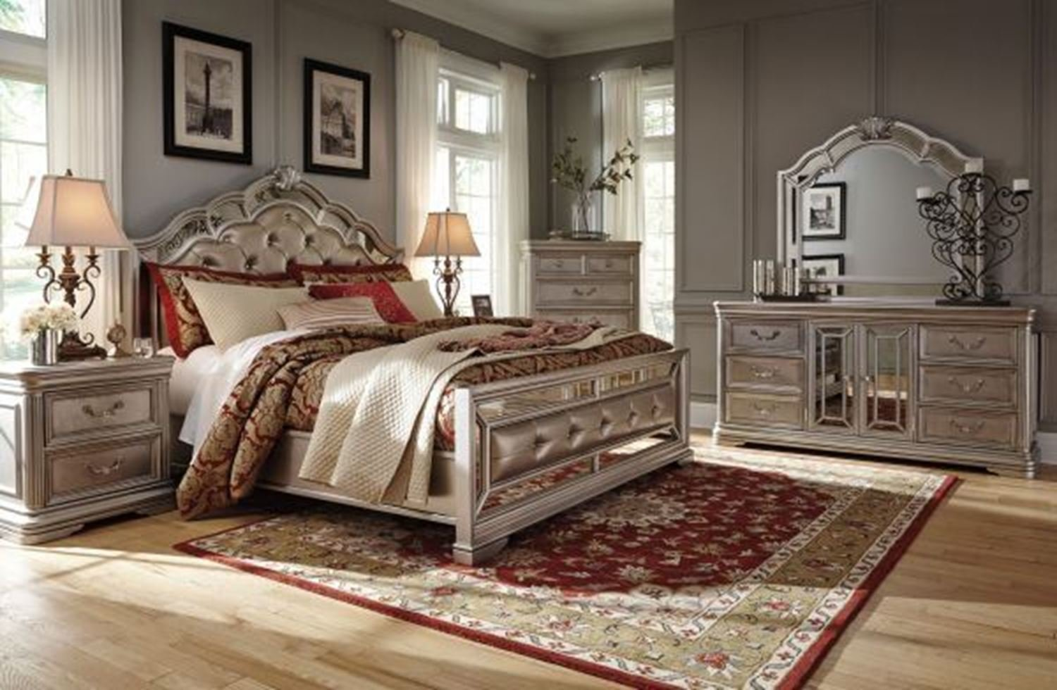 Best Bethany California King Bedroom Set Walker Furniture Las With Pictures