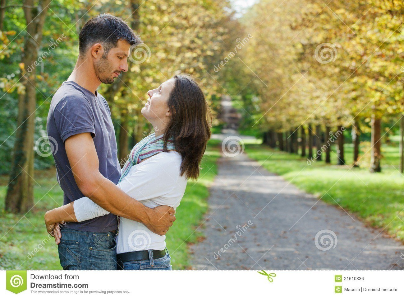 Best Young Couple Walking In Autumn Park Royalty Free Stock With Pictures