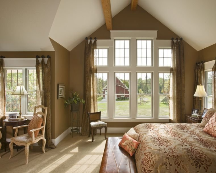 Best Modern Vaulted Ceiling Master Bedroom Ideas Giving Warm With Pictures